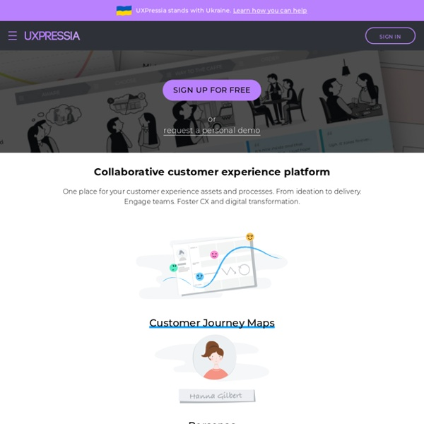 UXPressia – Customer journey mapping (CJM) & persona online tool. Design diagram for multi channel user journey with customer experience map & persona tool (service design toolkit)