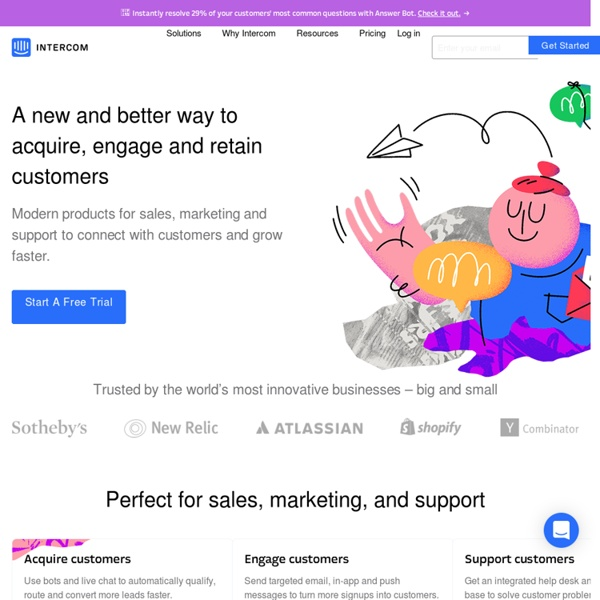 Intercom - A customer relationship management and messaging tool for web app owners