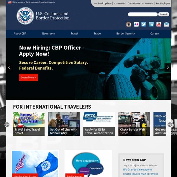 CBP.gov - home page
