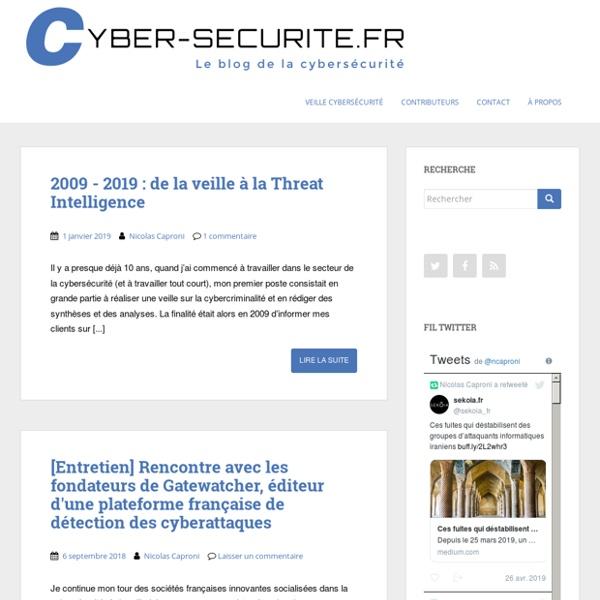 Le blog de la cyber-scurit