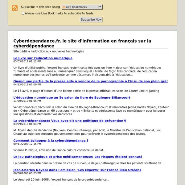 La cyberdependance -flux RSS-