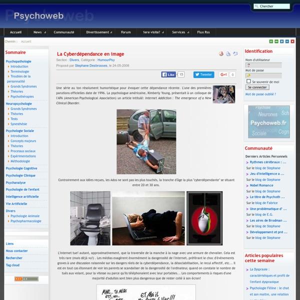 La Cyberdépendance en image-Psychoweb