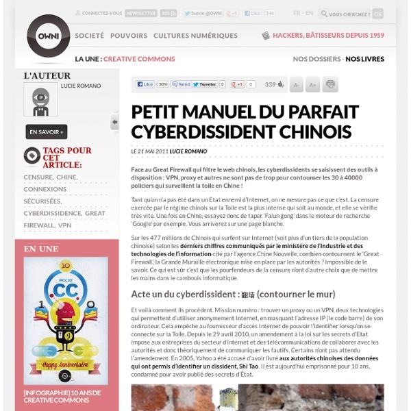 Petit manuel du parfait cyberdissident chinois