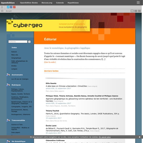 Cybergeo : European Journal of Geography