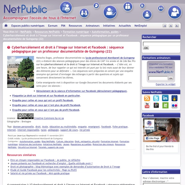 Cyberharcèlement et droit à l'image sur Internet et Facebook : séquence pédagogique par un professeur documentaliste de Guingamp (22)-Mozilla Firefox