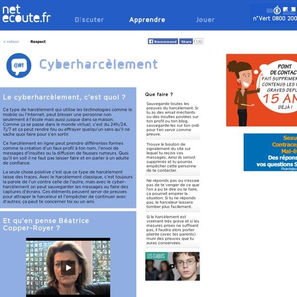 Cyberharcèlement netecoute.fr