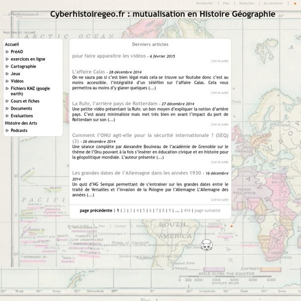 Cyberhistoiregeo.fr : mutualisation en Histoire Géographie - Tice en Histoire Géographie