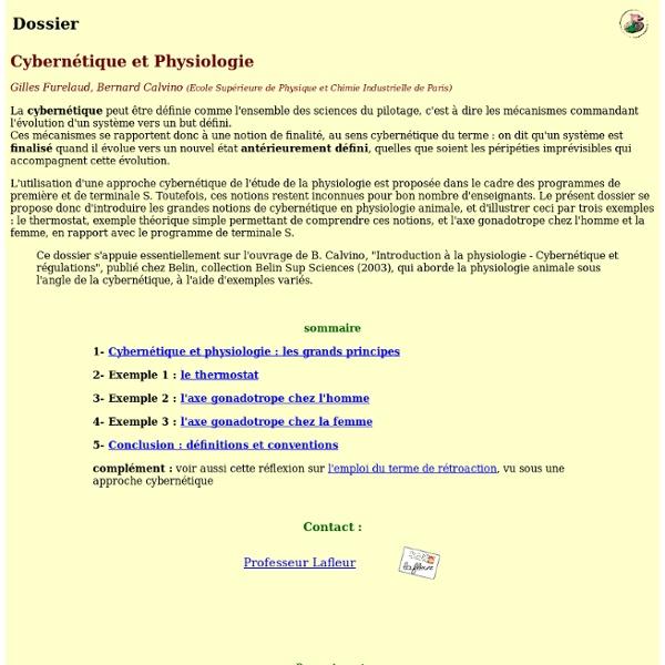 Cybernétique et physiologie