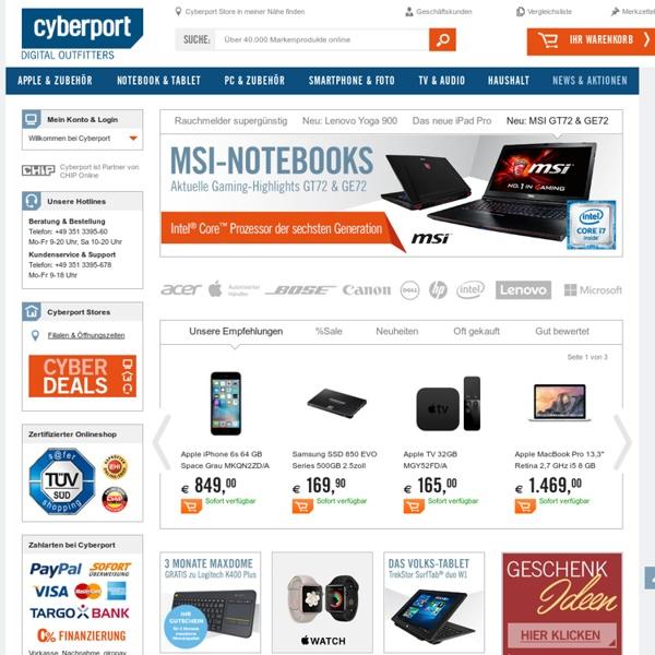 Cyberport.de - Computer, Notebooks, Fernseher, Apple, Handys & Digitalkameras