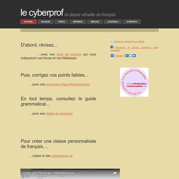 Le Cyberprof : les tests essentiels pour réviser son français