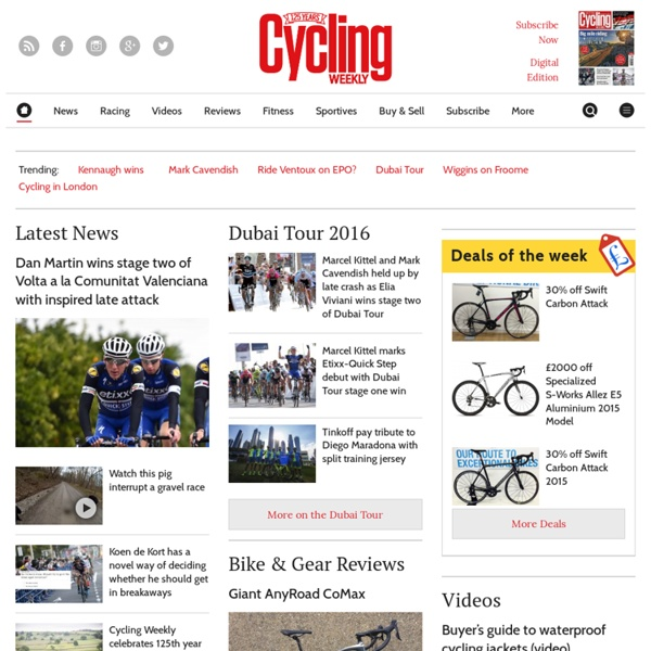 Cycling news, cycle routes, equipment and forums