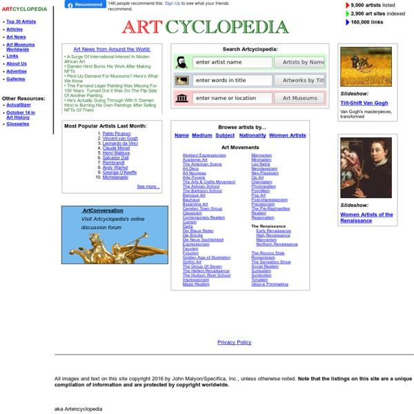 Art cyclopedia: The Fine Art Search Engine
