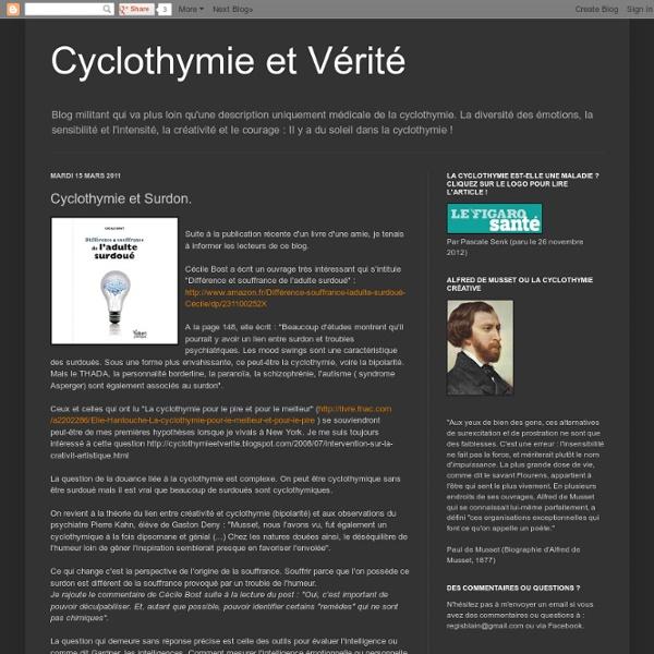 Cyclothymie et Surdon.