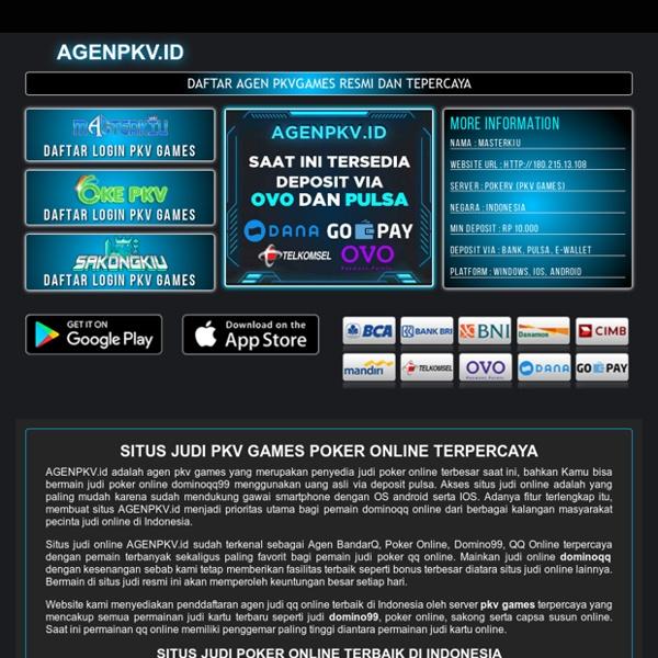 Situs Judi Poker Pkv Games Dominoqq Online Pearltrees