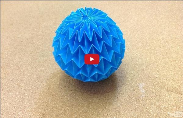 origami facile boule magique