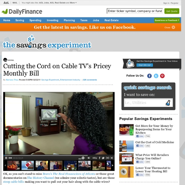 Cutting the Cord on Cable TV's Pricey Monthly Bill