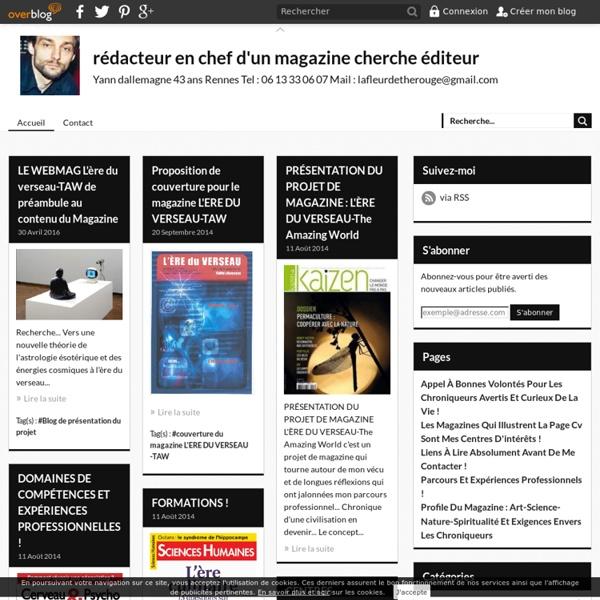 Rédacteur en chef d'un magazine - Yann dallemagne 42 ans 5 square Charles Dullin 35200 Rennes Tel : 06 13 33 06 07 Mail : lafleurdetheblanc