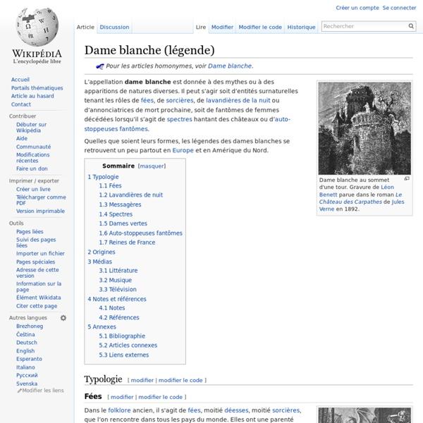 Dame blanche (légende)