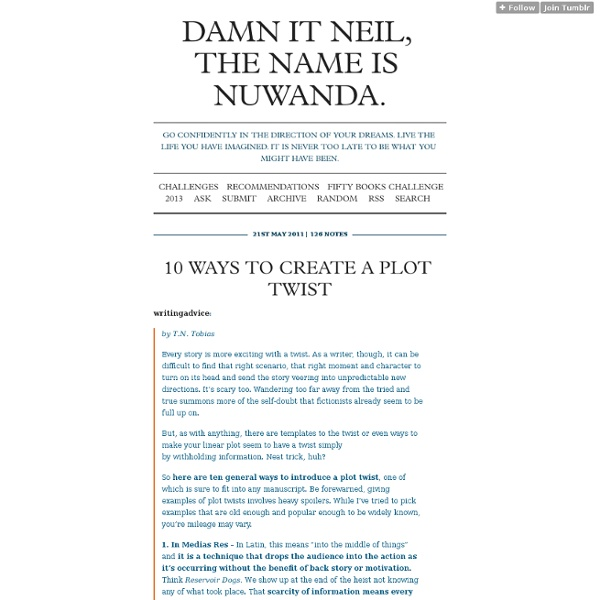 Damn it Neil, the name is Nuwanda.