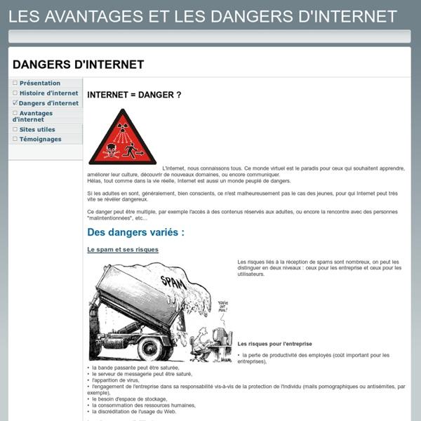Dangers d'internet