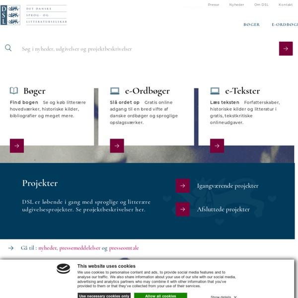 Det danske sprog- og litteraturselskab: Digitale udgivelser