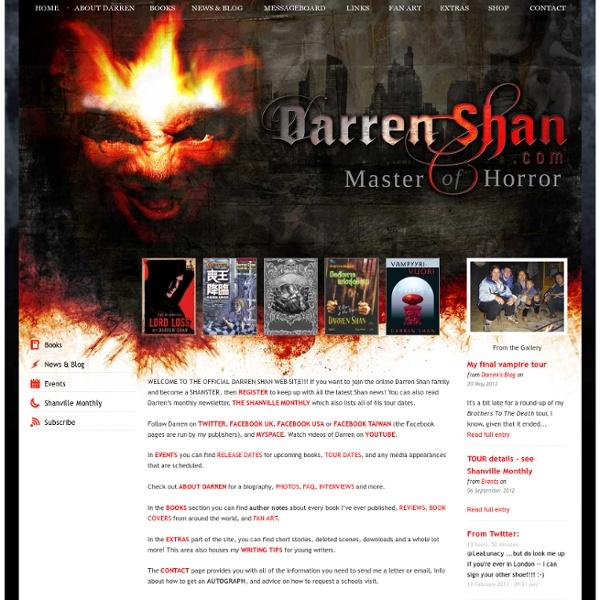 Darren Shan - Author of the Darren Shan Saga and The Demonata