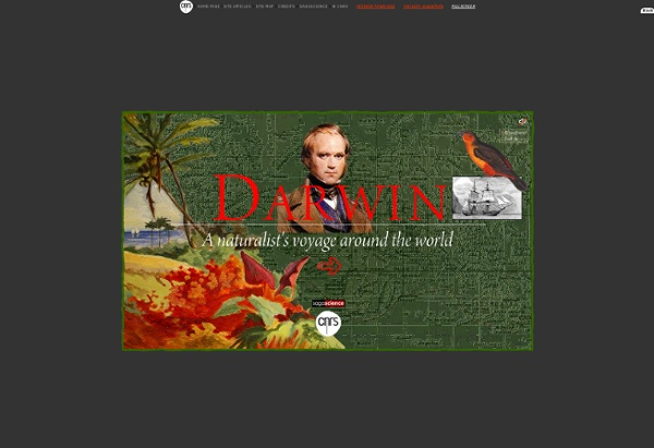 Darwin, a naturalist's voyage around the world - CNRS sagascience
