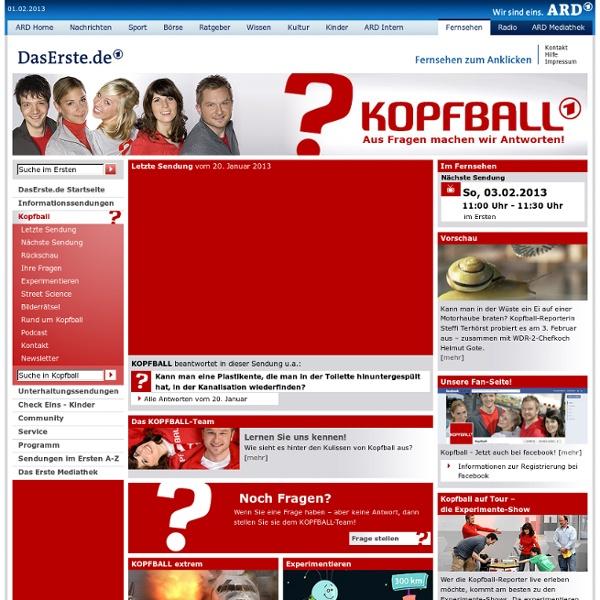 DasErste.de - Kopfball - Startseite