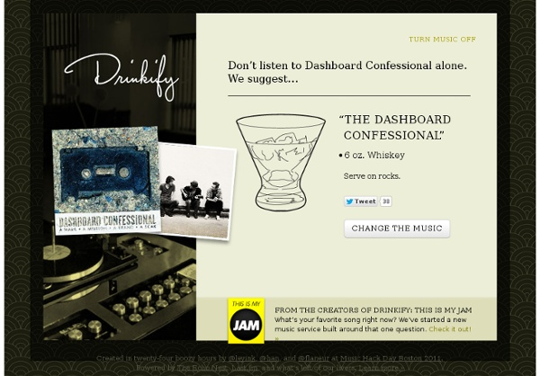 Dashboard Confessional - StumbleUpon