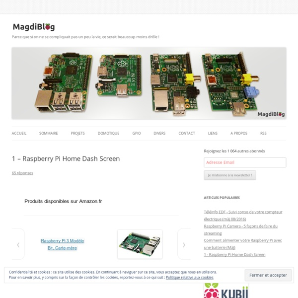 Projet de dashboard domestique avec un Raspberry Pi