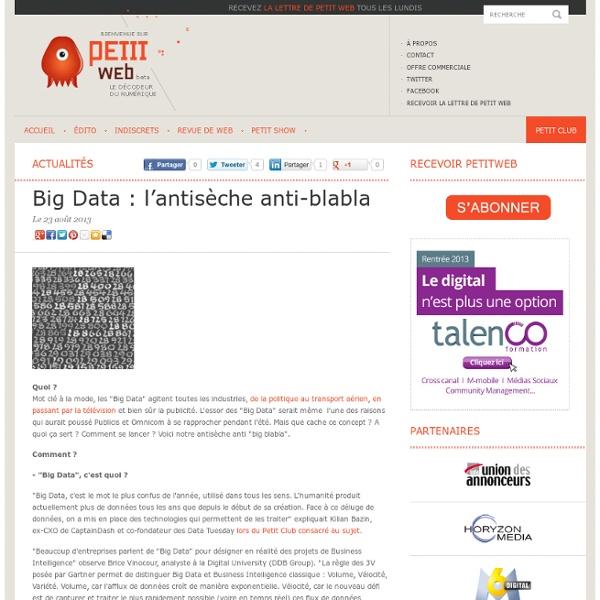 Big Data : l'antisèche anti-blabla