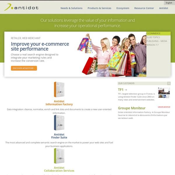 Antidot - Solution de recherche - moteur de recherche entreprise- moteur de recherche pour site ecommerce- Logiciel de recherche