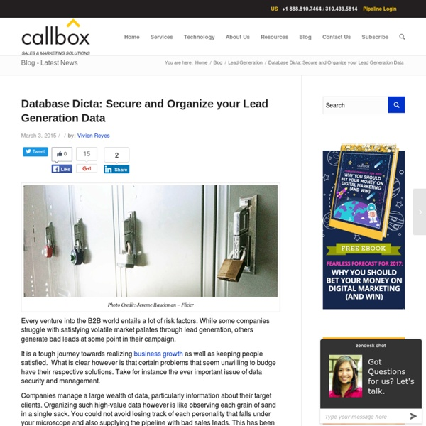 Database Dicta: Secure and Organize your Lead Generation Data - Callboxinc.com - B2B Lead Generation Company