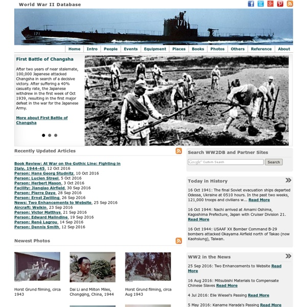 World War II Database: Your WW2 History Reference Destination