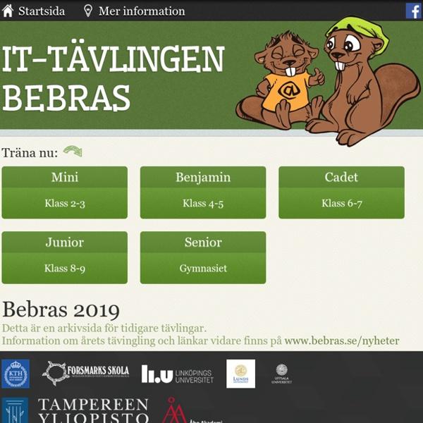 Databävern: Välkommen till IT-tävlingen Bebras