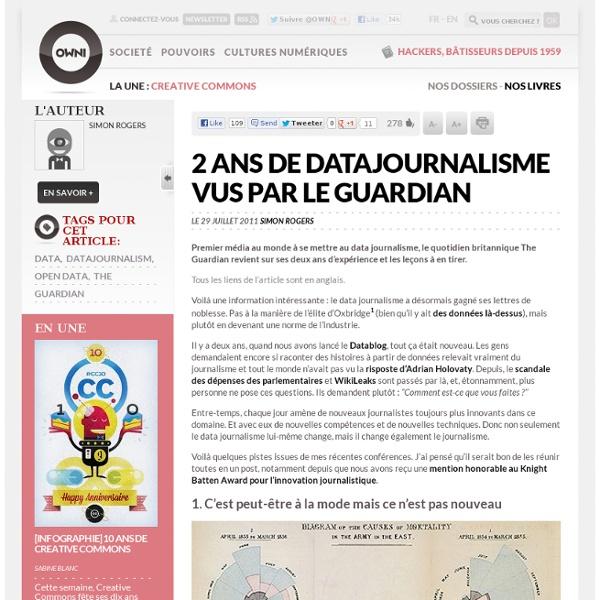 2 ans de datajournalisme vus par le Guardian