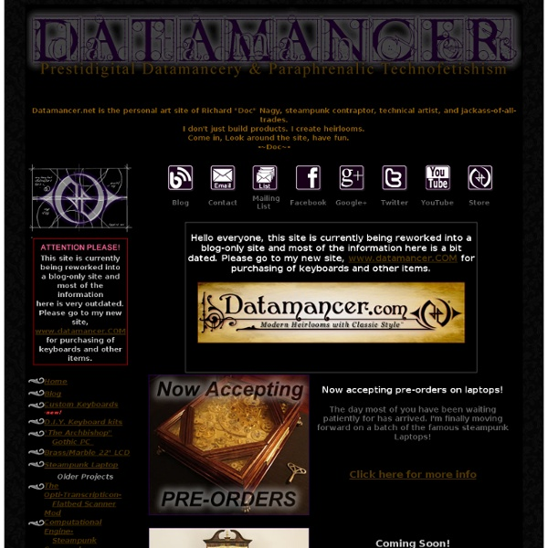 Datamancer.net - Technical Art and Steampunk Contraptions