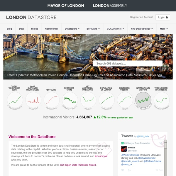 Welcome to the London Datastore