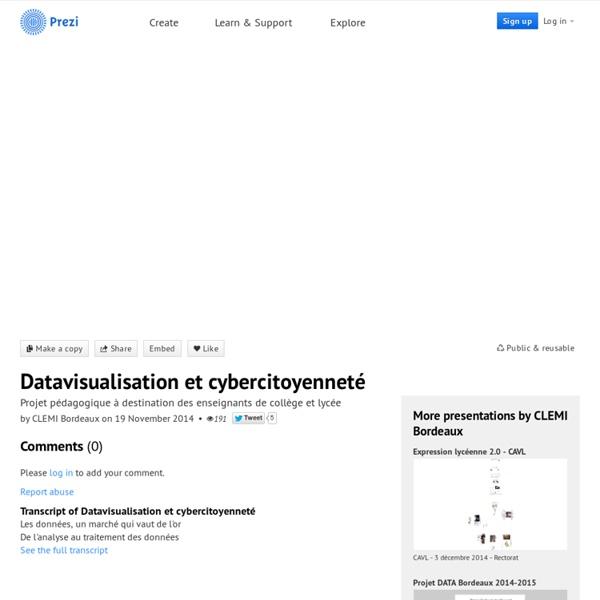 Datavisualisation et cybercitoyenneté by CLEMI Bordeaux on Prezi