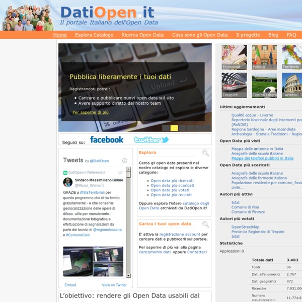 Il portale Italiano dell'Open Data