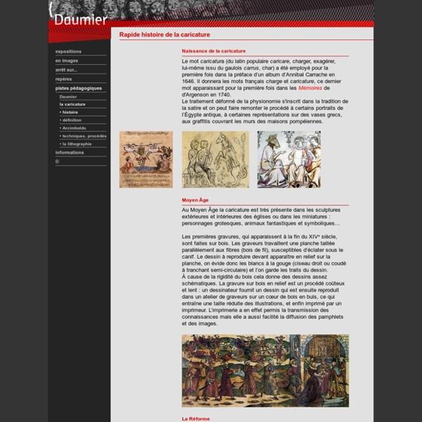 Rapide histoire de la caricature - BNF