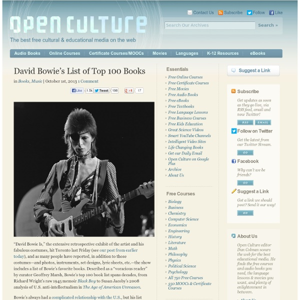 David Bowie's List of Top 100 Books