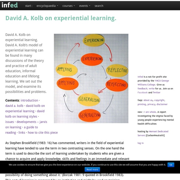 David A. Kolb on experiential learning.