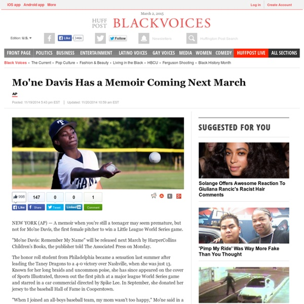 Mo'ne Davis Has a Memoir Coming Next March
