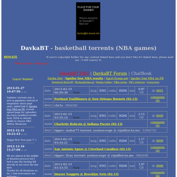 DavkaBT - basketball torrents