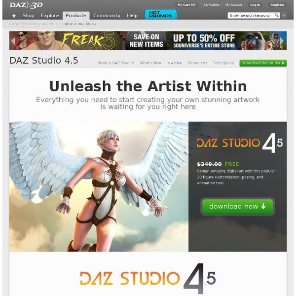 Free 3D Software and 3D Model Providers