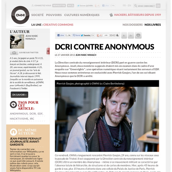 DCRI contre Anonymous