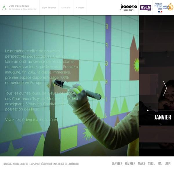 De la Craie à l'Ecran, des élèves de cycle 3 expérimentent la classe immersive Microsoft pendant six mois - Reportages vidéos et entretiens