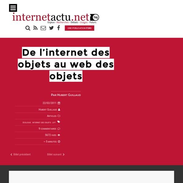 De l'internet des objets au web des objets