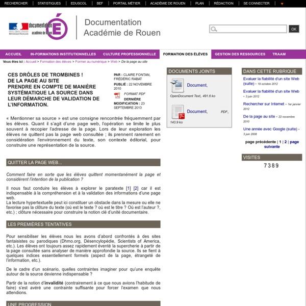 De la page au site